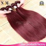 Cabelo humano vermelho brasileiro do cabelo 100% do Weave de Borgonha do vinho do cabelo #99j de Borgonha em linha reta