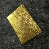 le schede di gioco di plastica della mazza dell'oro 24k con progettano