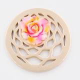 Plastikblumen-Ansammlungs-Münzen-Plattepassender Locket-Anhänger