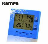 Medidor de humidade de temperatura digital LCD higrómetro e relógio com função de alarme