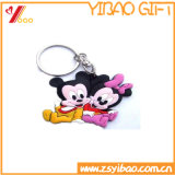 Encadenamiento dominante del PVC de la promoción/Keyring/insignia lindos de Keyholder Customed (YB-HD-191)