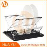 Crémaillère d'assiette en bois d'acier inoxydable de forme de la Chambre X pour les accessoires de cuisine (HY-W003)
