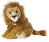 Emulational 사자 견면 벨벳 장난감 견면 벨벳에 의하여 채워지는 사자 장난감