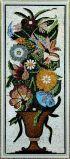 꽃 벽 패턴과 깎는 돌 모자이크