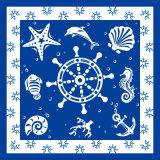 Golf van de manier drukte het Vierkante Embleem van de Douane van de Sjaal van de Zijde van de Sjaal af