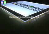 Segno di cristallo acrilico della visualizzazione di LED della casella chiara per la cornice