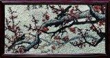 花の壁パターンおよびせん断の石造りのモザイク