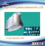 Gaze Rolls do algodão absorvente com 19X15 4ply e 90cmx100m