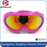 La vente chaude de regain de qualité de lunettes résistantes enduites de sports badine des lunettes de ski