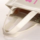 Kleine weiße wasserdichte Belüftung-PU-Einkaufstasche (H017)