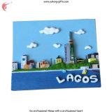 Nuovi magneti del frigorifero della resina di paesaggio per la decorazione del frigorifero (YH-FM090)