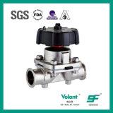 Válvula de diafragma manual asséptica sanitária Wh550