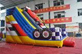 Doble cara de la venta del diseño de la diapositiva inflable caliente de Racecar