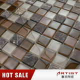 Mosaico di colore del caffè di stile di Morden, mosaico del marmo della miscela di cristallo