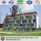 Immeuble résidentiel commercial diplômée par OIN de bâti en acier