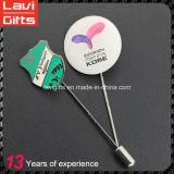 Pin отворотом иглы оптового изготовленный на заказ металла длинний