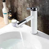 Faucet montado da bacia da pintura plataforma branca