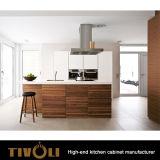 Cabinas de cocina de madera del diseño moderno de las cabinas con las opciones blancas Tivo-0150V de la chapa de la melamina de la pintura