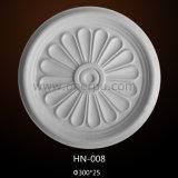 PU Médaillons de plafond plafond décoratif Rose HN-008