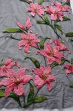 Tela del bordado del modelo de flor para Dressing y materia textil casera de la señora