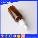 Botella de cristal del cuentagotas del color ambarino caliente de la venta para el petróleo esencial