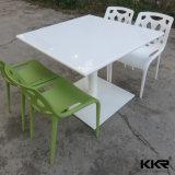 Глянцевая Kingkonree таблицы из камня белого цвета в ресторане в таблице