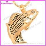 Collana Pendant dell'urna dei pesci per il supporto del Keepsake delle ceneri (IJD9236)