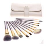 10 PCS Kit de cepillo maquillaje herramienta con una bolsa de embalaje