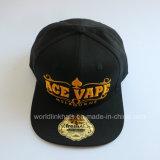 6 chapéu bordado do Snapback do tom do painel 2 3D com Underbrim verde