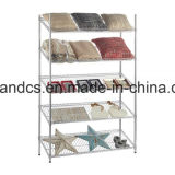 4 Niveles inclinadas Chrome Pantalla estantería de alambre del estante en la Exposición Feria de Cantón