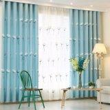 自然な様式ポリエステル刺繍の停電の窓カーテン(14F0055)