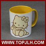 Porcelana colorida 11oz de la sublimación de la tazas de café