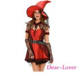 boshaftes Halloween-Kostüm der Hexe-6PCS