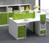 Partition droite de bureau de personnel de boîtier de poste de travail de bureau de siège unique (HX-NCD333)