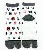 Socke der Tabi Socke Cate Karikatur-Art-2-Toe
