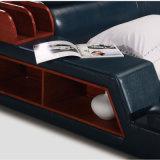 Голубая кровать кожи цвета для пользы спальни (FB8142)
