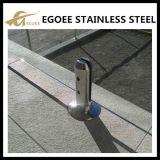 Espitas de cristal del acero inoxidable de la cerca de Inox para la barandilla de las escaleras