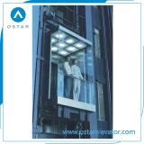Elevatore panoramico di vetro a piena vista ed esterno commerciale