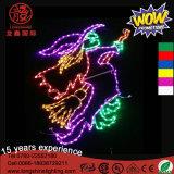 LED Halloween 훈장을%s 60cm 거치된 나는 마녀 유령 장식적인 빛