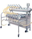 Линейный тип автоматическая машина завалки затира разливает по бутылкам и консервирует машину для прикрепления этикеток