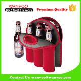 Изготовленный на заказ охладитель бутылки вина неопрена, мешок упаковки пива держателя бутылки для внешнего пикника