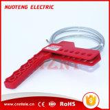 Выполните процедуру блокировки выключателей питания системы обеспечения безопасности Squeezer многоцелевой кабель блокировки с помощью кабеля