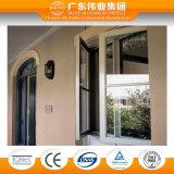 Il disegno della finestra di alluminio tiene conto 90° Apertura di angolo