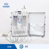 セリウムの空気圧縮機が付いている公認の携帯用歯科タービン移動車の単位