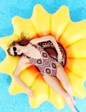 Раздувной поплавок бассеина солнцецвета, остров плавательного бассеина плавая