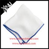 Los hombres algodón impresión personalizada de seda pañuelo laminado a mano con el borde de color