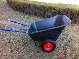Brouette en plastique de roues du plateau deux avec le prix bas