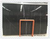 商業建物のタイルのためのNero黒いMarquinaの大理石の平板
