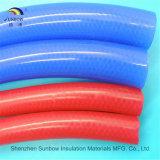 Tuyauterie renforcée par tresse expulsée en caoutchouc de silicones de fibre/polyester