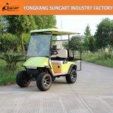 新しいデザインEzgo 4 Seaterのゴルフカート、4つの車輪駆動機構の電気ゴルフカート、後部フリップSeaterの実用的なゴルフカート